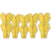 10 Manusi din Latex pentru menaj, marimea XL