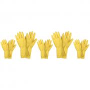 5 Manusi din Latex pentru menaj, marimea M