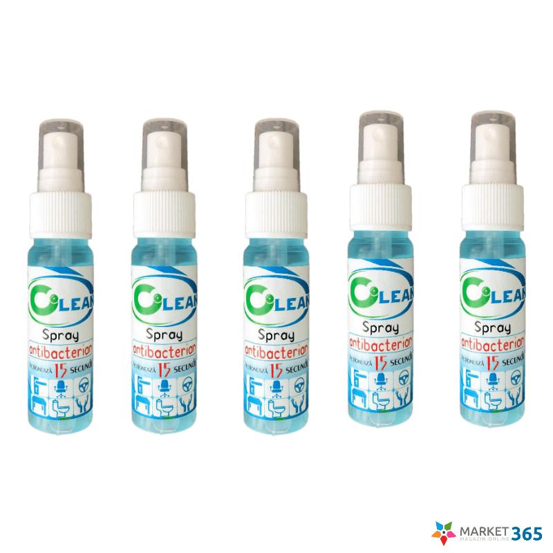 5 Spray Igienizant Antibacterian pentru maini si suprafete,5 x 50 ml,Alcool 70%