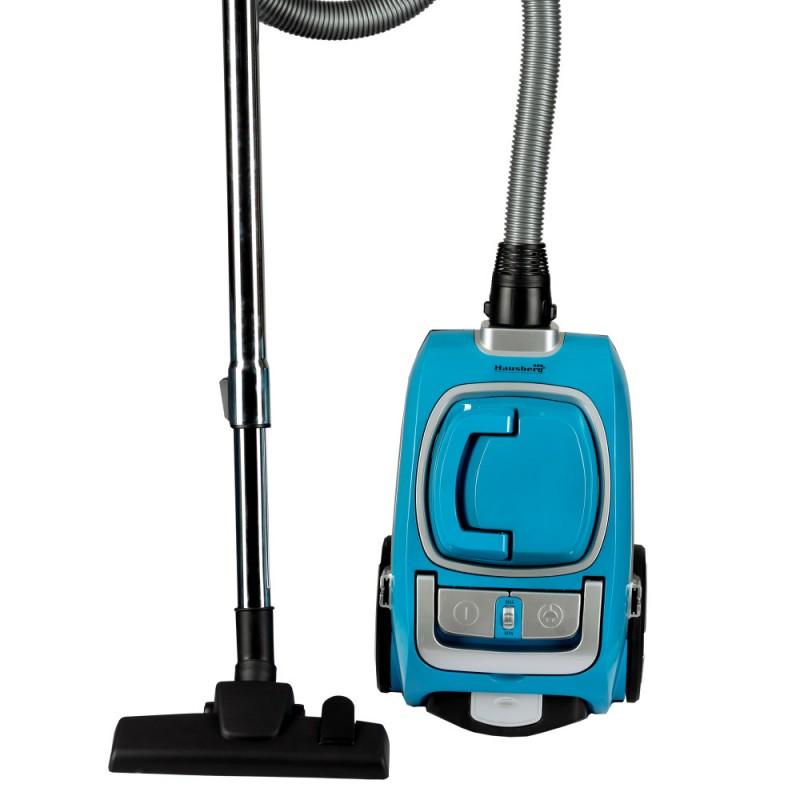 Aspirator fara sac Hausberg,Cyclone Vacuum Cleaner,3L,1200W,79dB, Albastru