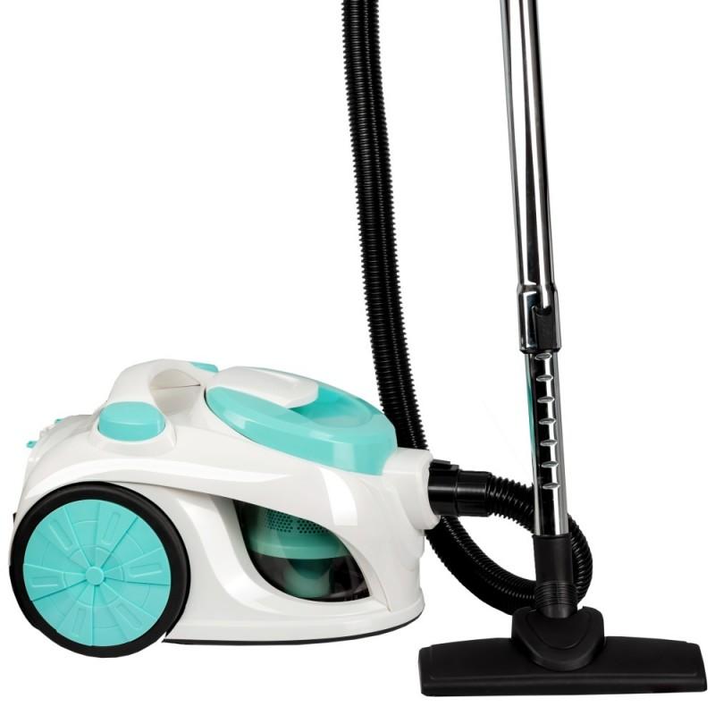 Aspirator fara sac Hausberg Cyclone Vacuum Cleaner,700W,79dB,3L,alb/turcoaz