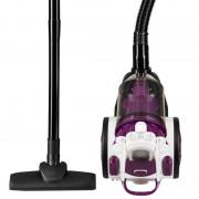 Aspirator fara sac Hausberg, Multi-Cyclone Vacuum Cleaner, 3L, 700W, 79dB, Alb/Magenta