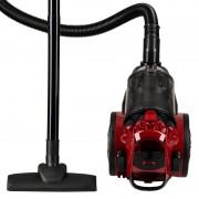 Aspirator fara sac Hausberg, Multi-Cyclone Vacuum Cleaner, 3L, 700W, 79dB, negru/rosu