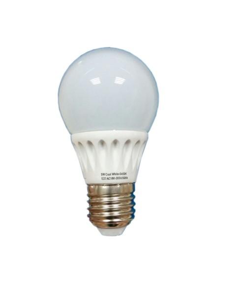 Bec LED E27, 5W SFERA, 450 Lumeni, Lumina calda