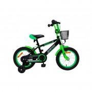 """Bicicleta Splendor pentru copii,14"""",verde/negru"""