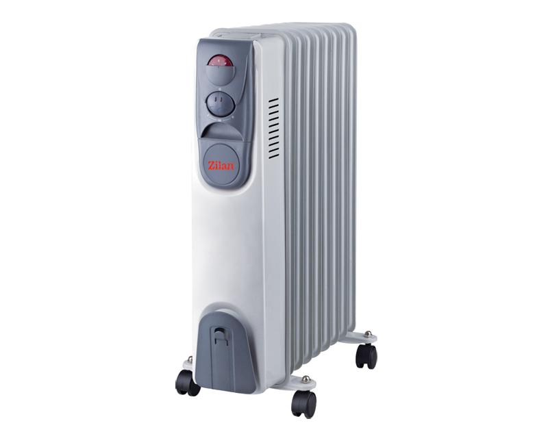 Calorifer Cu Ulei 9 Elementi ZLN2111, Putere 2000 W, 3 trepte de putere, Termostat de siguranta, Termostat reglabil