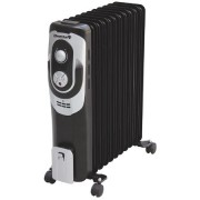 Calorifer electric Hausberg,11 elementi, 2500 W, 3 trepte putere, Termostat reglabil