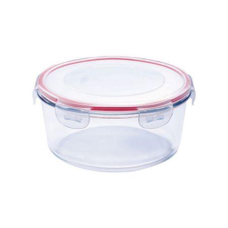 Caserola rotunda din sticla termorezistenta 2.8 Litri, capac