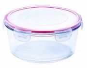 Caserola rotunda din sticla termorezistenta