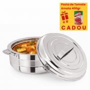 Caserola termos din inox,pereti dubli, Pasta de Tomate 400gr, 11 Litri
