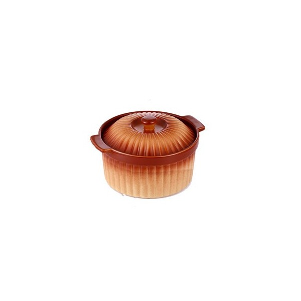 Cratita ceramica rotunda cu capac,3 Litri,28 cm