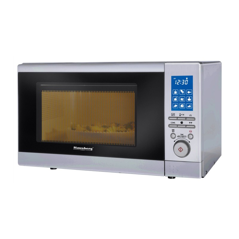 Cuptor Microunde Digital Hausberg, 800 W, Funcție Grill, Timer, Ceas, 20 Litri
