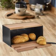 Cutie pentru paine din lemn si plastic, 40 x 20 x 20 cm