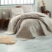 Cuvertura de pat matlasata,2 persoane,100% bumbac+2 Perne