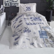 Cuvertura de pat matlasata o persoana,100% bumbac,aviator+Perna
