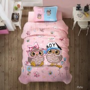 Cuvertura de pat matlasata o persoana,100% bumbac,buftine+Perna