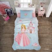 Cuvertura de pat matlasata o persoana,100% bumbac,printesa+Perna