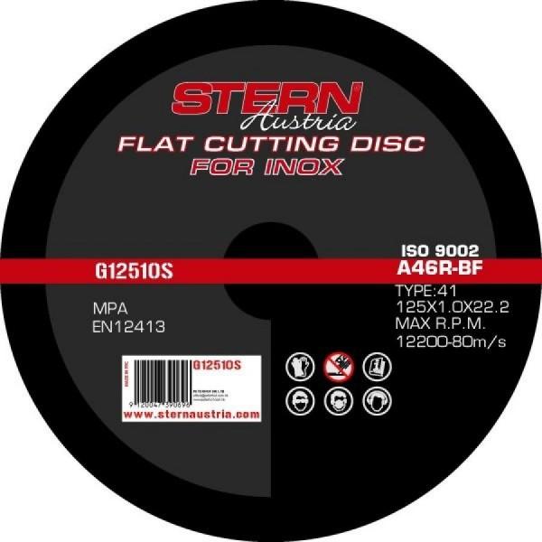 Disc Abraziv Metal-Inox pentru Polizor Unghiular 125x1.0 mm
