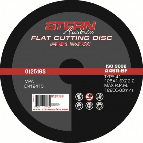 Disc Abraziv Metal-Inox pentru Polizor Unghiular 125x1.6 mm