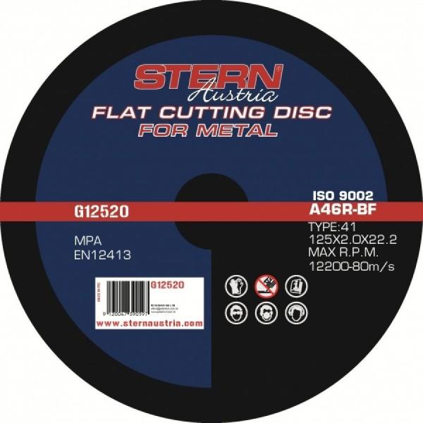 Disc abraziv metal pentru polizor unghiular 125x20mm