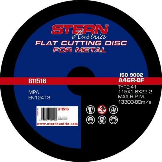 Disc abraziv pentru polizor unghiular Stern 115x1,6mm