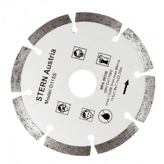 Disc diamantat taiere uscata pt polizor unghiular 115mm