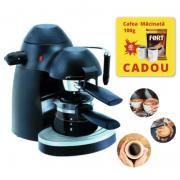 Espressor manual Hausberg, Cafea macinata, 3.5 Bar,4 cesti 650 W