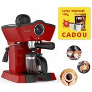 Espressor Victronic, Cafea macinata, 3.5 bar,800 W,cana sticla,250 ml