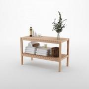 Etajera cu 2 rafturi din lemn, 35 x 80 x 50 cm