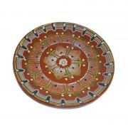 Farfurie din ceramica pictata manual, 26 cm