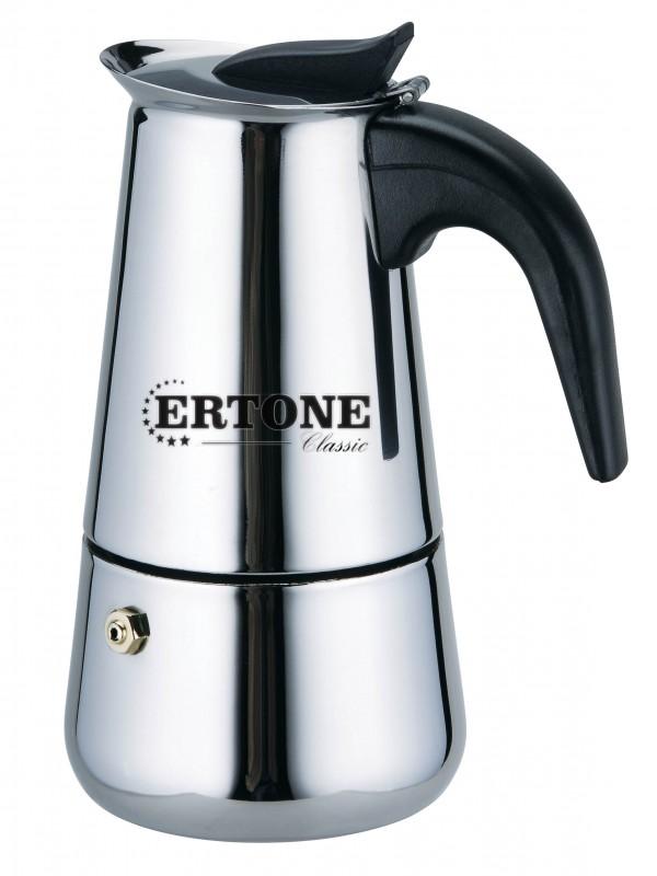 Filtru de cafea manual Ertone, 4 cesti,inox