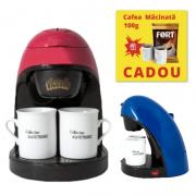 Filtru de cafea Victronic, 450 W, Cafea macinata, 2 Cani, Diverse Culori