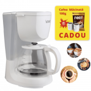 Filtru de cafea Victronic, Cafea macinata, 800 W, 10-12 Cesti