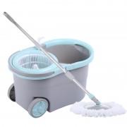 Galeata cu mop rotativ cu Dubla stoarcere,Roti,Dop scurgere si Rezervor detergent,16 Litri,2 Rezerve