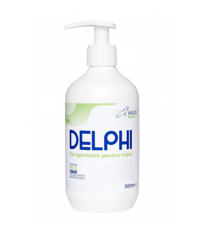 Gel igienizant Delphi pentru maini 70% alcool,500ml
