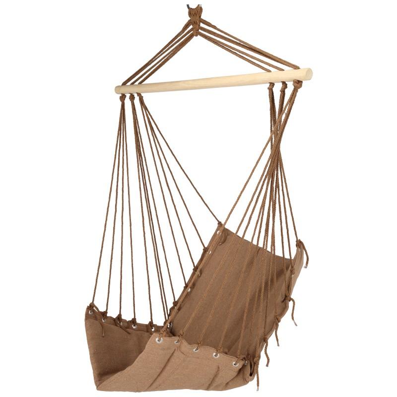 Hamac tip scaun/leagan,bumbac,lemn,120 kg