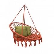 Hamac tip scaun suspendat cu accesorii incluse, 80 x 120 cm,impletitura policoton