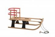 Sanie din lemn Hamax Lillehammer Rodel Mini W/Backsupport