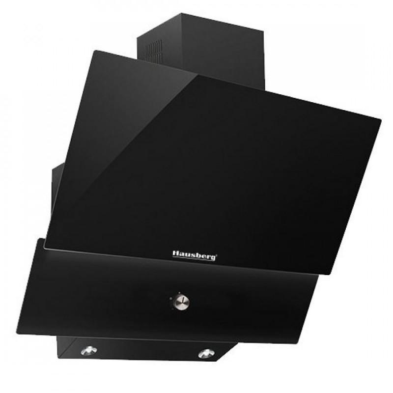 Hota Incorporabila decorativa Hausberg,60 cm,filtru aluminiu,190W,3 trepte,negru