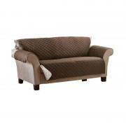 Husa canapea 2 persoane,2 fete maro,crem,135 x 170 cm