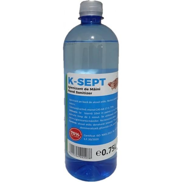 Igienizant de maini,Alcool Etilic 75%, 0.75 Litri