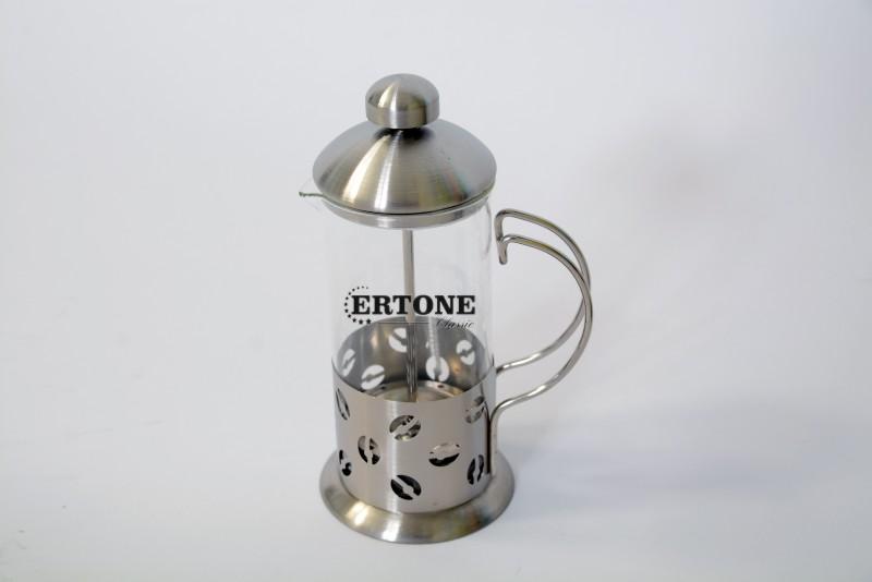 Infuzor ceai si cafea Ertone, 350 ml, sticla, inox, argintiu