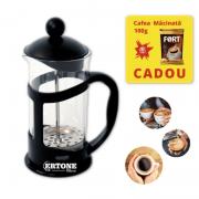 Infuzor ceai si cafea Ertone, 800 ml, Cafea macinata, sticla, inox