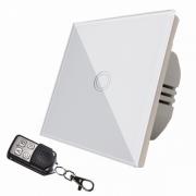 Intrerupator touch simplu cu telecomanda RF,panou sticla