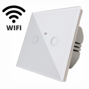 Intrerupator touch dublu WI-FI,panou sticla