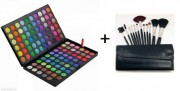 KIT MAKE-UP Trusa 120 Culori + SET 12 PENSULE