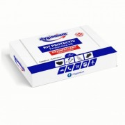 KIT Protectiv 4 Produse:Masca reutilizabila,Manusi nitril,Gel antibacterian 50 ml,Servetele umede