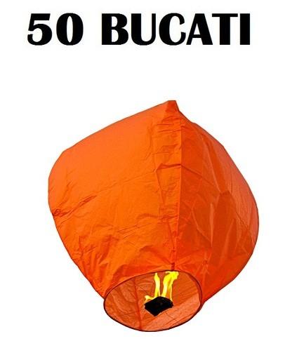 Lampioane zburatoare portocalii set 50 bucati