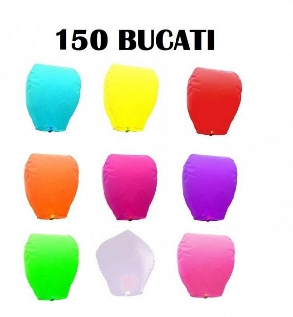 Lampioane zburatoare set 150 buc culori diverse la alegere+1 Lampion forma inima