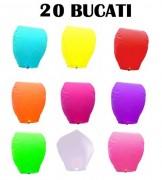 Lampioane zburatoare set 20 buc culori diverse la alegere